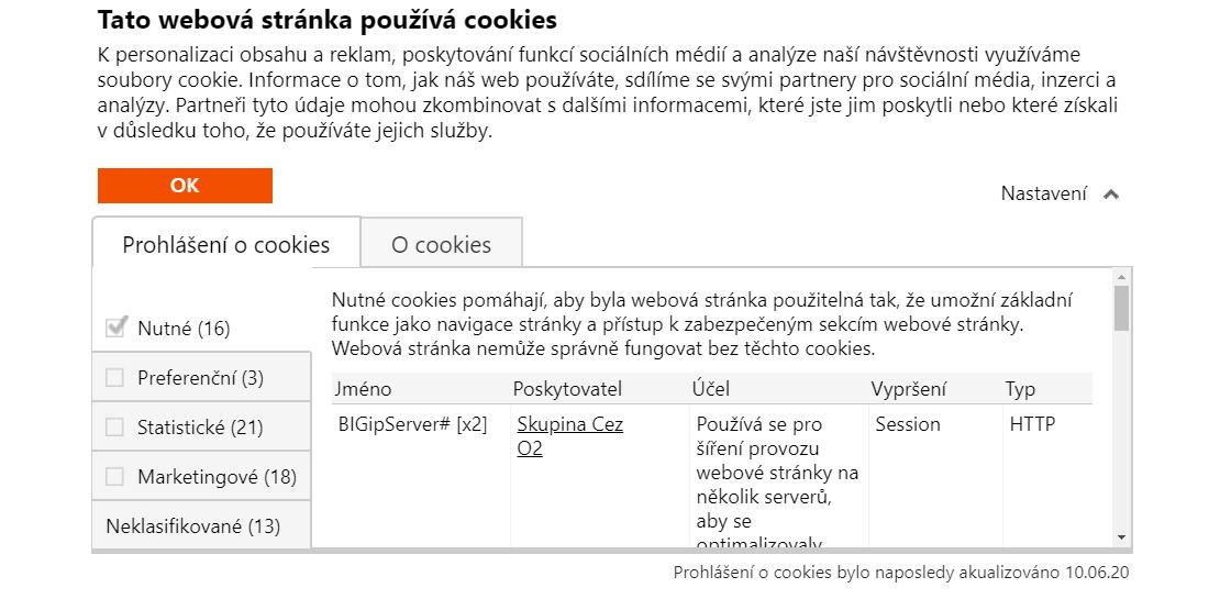 Upozornění na nekalé praktiky k vyžadování souhlasu při použití cookies